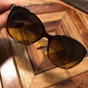 Prada Womens Tortoise Sunglasses